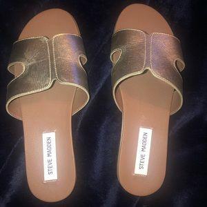 Steve Madden Gold Greece Sandals Never Worn Size 8
